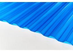 """Профилированный поликарбонат синий 0.8мм 1050x2000мм """"Borrex"""""""