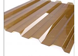 """Профилированный поликарбонат коричневый (янтарь) 0.8мм 1050x2000мм """"Borrex"""""""