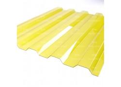 """Профилированный поликарбонат желтый 1.3мм 1050x2000мм """"Borrex"""""""